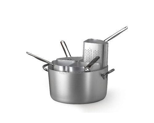 Pastakittel med fyra pastainsatser i aluminium, Ø 36 cm, Agnelli