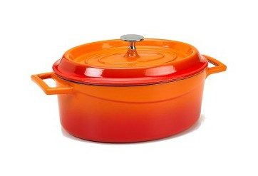 Slowcook minigryta oval 0,4l, orange, Pentole Agnelli