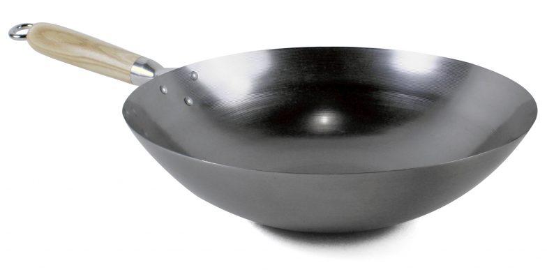 Wok 4,5 L Ø 33 cm, rund botten, Exxent