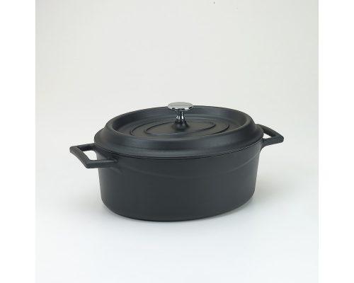 Slowcookgryta, oval, 3,3l, mattsvart, Pentole Agnelli