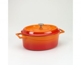 Slowcookgryta, oval, 4,8l, orange , Pentole Agnelli