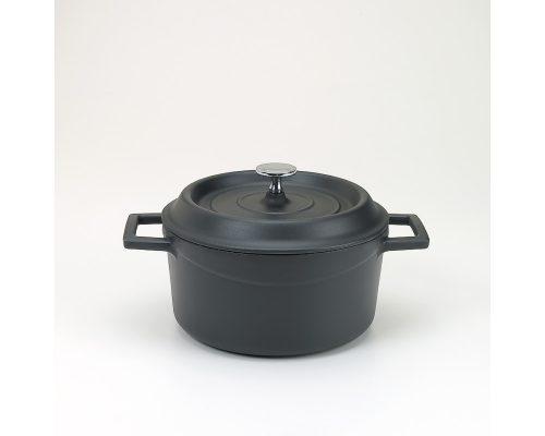 Slowcookgryta, rund, mattsvart, Ø 20 cm, Pentole Agnelli