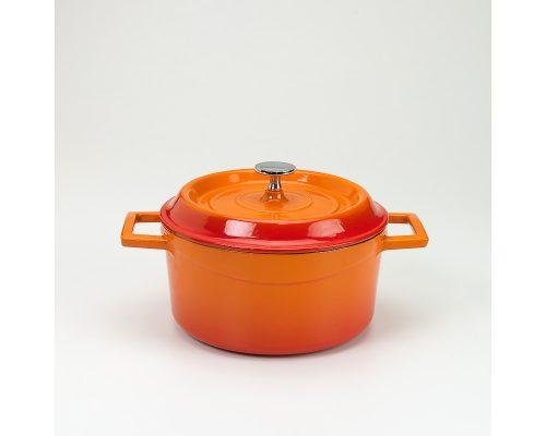 Slowcookgryta, rund, orange, Ø 20 cm, Pentole Agnelli