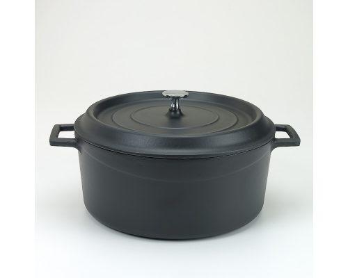 Slowcookgryta, rund, mattsvart, Ø 28 cm, Pentole Agnelli
