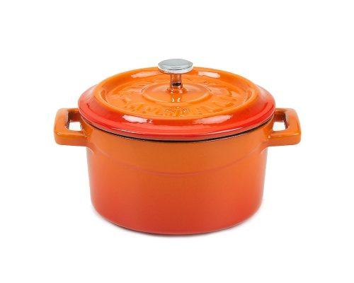 Slowcook minigryta rund, orange, Ø 14 cm, Pentole Agnelli