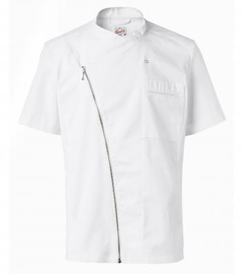 Kockskjorta kort ärm stretch (Vit), Segers