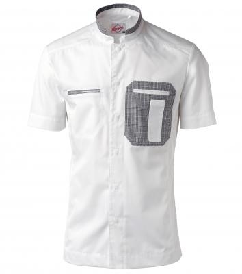 Kockskjorta, kort ärm  (Vit/Grå), Segers
