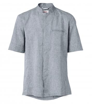 Kockskjorta kort ärm (Blå/Melange), Segers