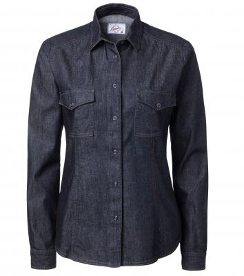 Jeansskjorta dam (Mörkblå), Segers
