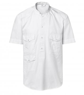 Skjorta kort ärm - Unisex (Vit), Segers