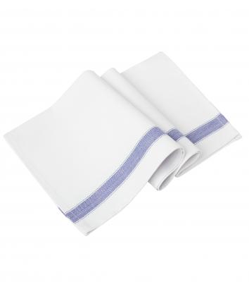 Handduk, 6-pack (Vit/Blå Rand), Segers