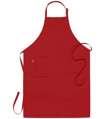 Bröstlappsförkläde (Röd), Segers