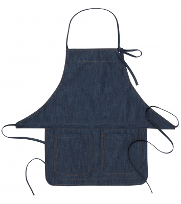 Bröstlappsförkläde, Denim (Mörkblå), Segers