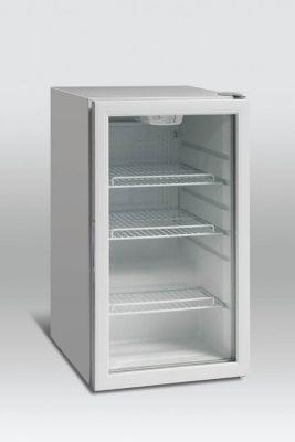 Kylskåp med glasdörr, 110 L, Scancool
