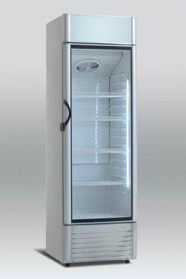 Kylskåp med glasdörr, 350 L, Scancool