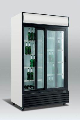 Kylskåp med skjutbara glasdörrar, 810 L, Scancool