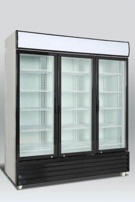 Kylskåp med 3 hängda glasdörrar, 1383 L, Scancool
