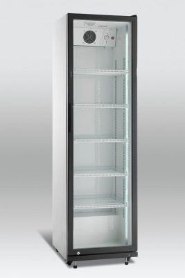 Kylskåp med glasdörr, 394 L, Scancool