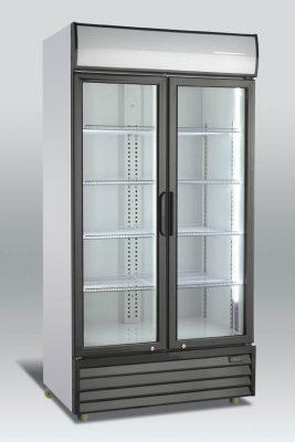Kylskåp med 2 hängda glasdörrar, 879 L, Scancool