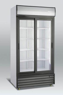 Kylskåp med skjutbara glasdörrar, 709 L, Scancool