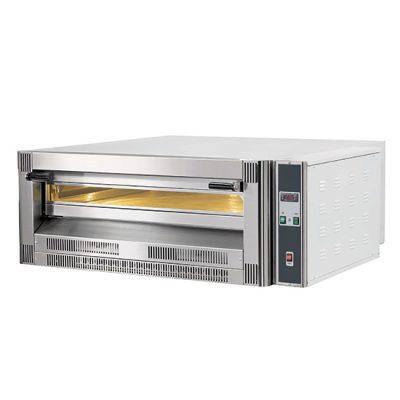 Gasdriven pizzaugn för 9 pizzor ø 330 mm, digital kontroll, Mastro