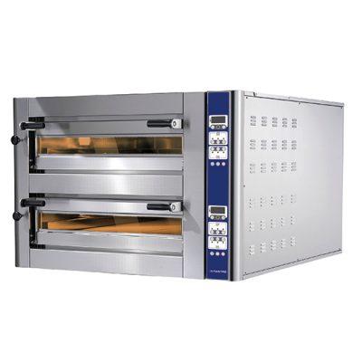 Eldriven pizzaugn för 4+4 pizzor ø 350 mm, digital kontroll, Mastro