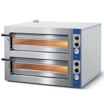 Eldriven pizzaugn för 4+4 pizzor ø 350 mm, mekanisk kontroll, Mastro
