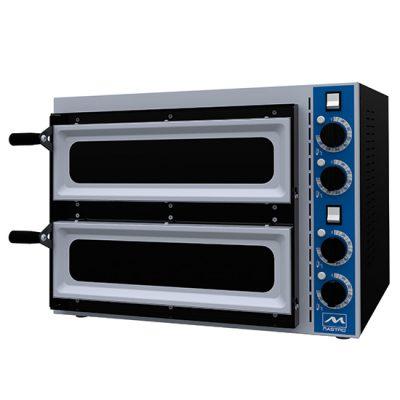 Eldriven pizzaugn för 1+1 pizzor ø 340 mm, mekanisk kontroll, Mastro