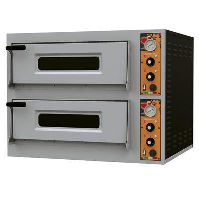 Eldriven pizzaugn för 4+4 pizzor ø 32 cm, mekanisk kontroll, Ristormarkt