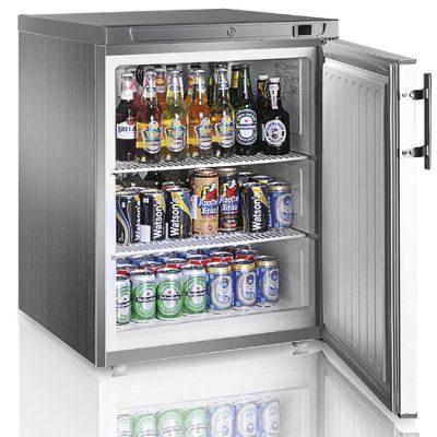 Kylskåp i rostfritt, 145 L, Mastro
