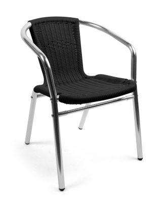 Alu-Bistro karmstol, svart, Xirbi