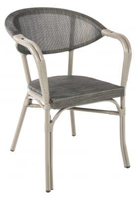Monaco karmstol, svart/brun, Xirbi