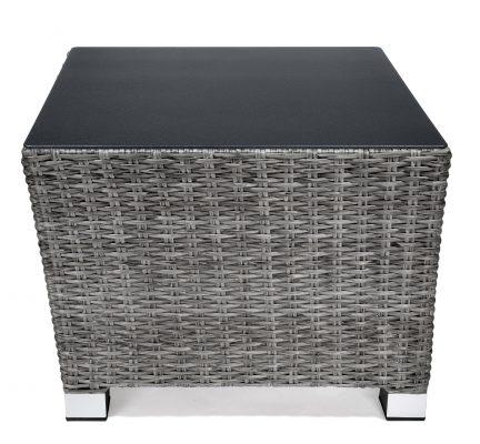 Lyon hörnbord 59x59 cm, grå, Xirbi