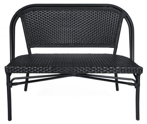 Paris 2-sits soffa, svart, Xirbi