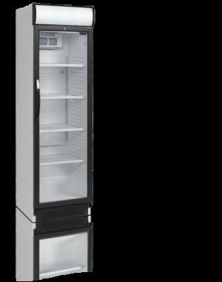 Kylskåp med glasdörr, 372 L, Tefcold