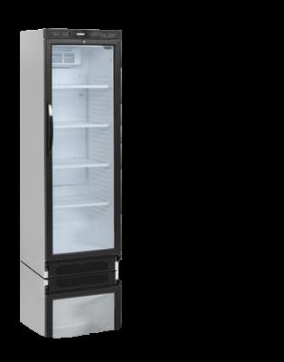 Flaskkyl med LED-belyst glasdörr, 372 L, Tefcold
