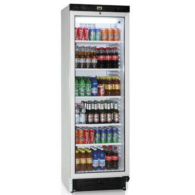 Kylskåp med glasdörr, 5 hyllor, 379 L, Mastro