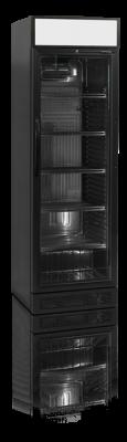 Flaskkyl med belyst toppdel, svart utförande, 372 L, Tefcold