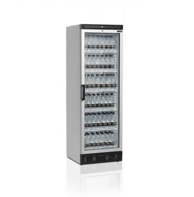 Kylskåp med glasdörr, stilrent utförande, 372 L, Tefcold
