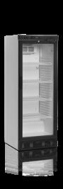 Kylskåp med glasdörr, 290 L, Tefcold
