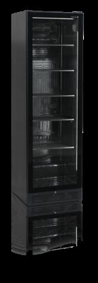 Kylskåp med glasdörr utan yttre ram, 387 L, Tefcold