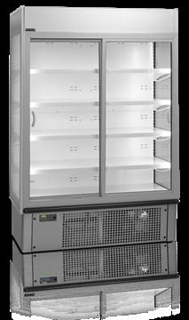 Kylskåp med 2 skjutbara dörrar, 940 L, Tefcold