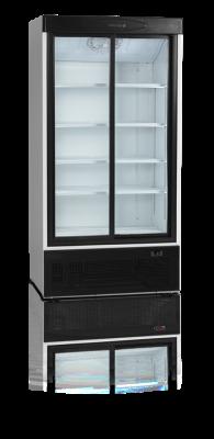 Kylskåp med 2 skjutbara glasdörrar, 730 L, Tefcold