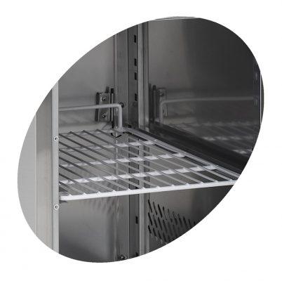Saladette, GN 1/1, med 1 dörr och 2 lådor, 260 L, Tefcold