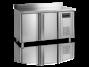 Kylbänk med stänkskydd, GN 1/1, 2 dörrar, 282 L, Tefcold