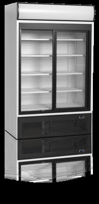 Kylskåp med 2 skjutbara dörrar, 945 L, Tefcold
