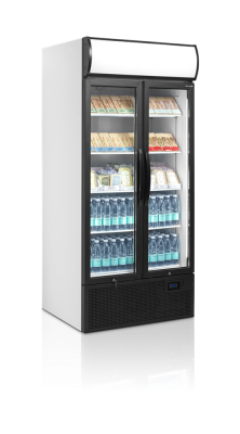 Kylskåp med 2 hängda glasdörrar, 707 L, Tefcold