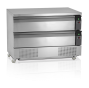 Grillkylbänk/frysbänk, GN 3/1, 2 lådor, 1230 L, Tefcold