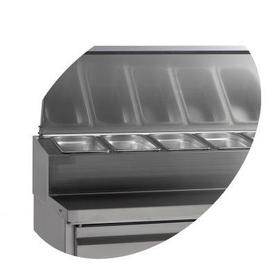Kylbänk för beredning, 520 L, Tefcold