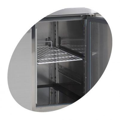 Frysbänk med stänkskydd, GN 1/1, 2 dörrar, 282 L, Tefcold